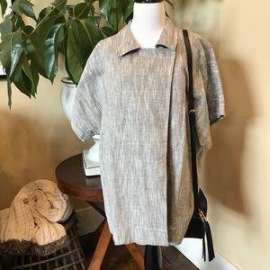 Eileen Fisher Linen/Cotton Short Sleeve Jacket